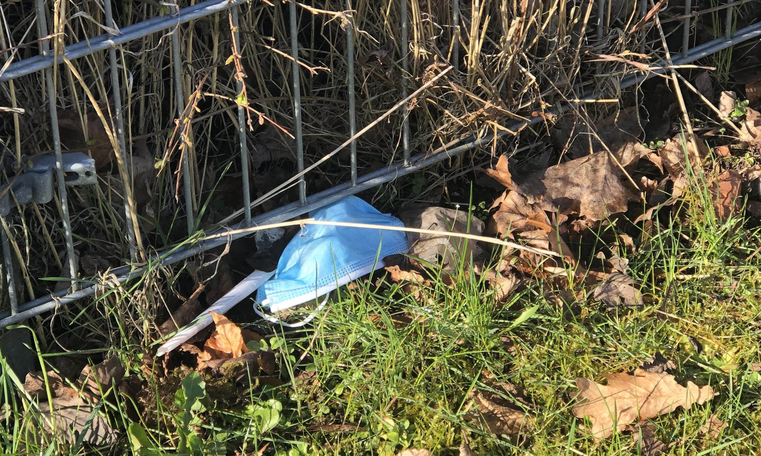 Henkastede mundbind er et problem - Affaldssortering 2021